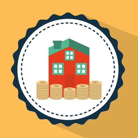 inheritance: money house design, vector illustration eps10 graphic Illustration