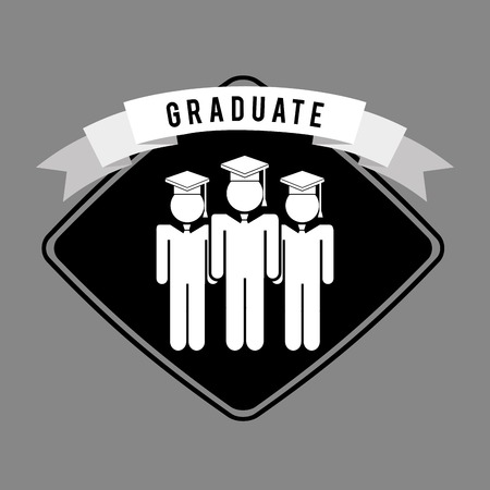 accomplishments: graduated design, vector illustration eps10 graphic