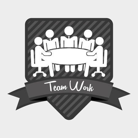 work table: teamwork design, vector illustration eps10 graphic Illustration