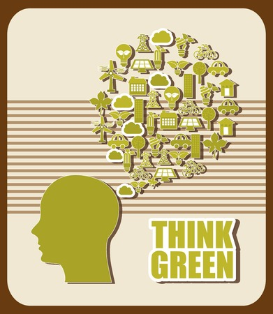 think green design, vector illustration eps10 graphic Vector