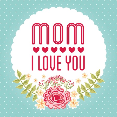 mothers day design, vector illustration eps10 graphic Vector