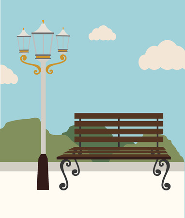 Park design over white background, vector illustration. Illustration