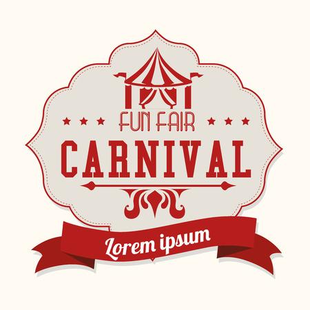 Diseño de Carnaval sobre fondo blanco, ilustración vectorial. Ilustración de vector