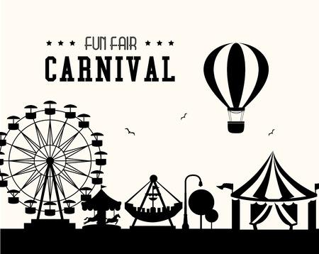 Carnaval ontwerp op een witte achtergrond, vector illustratie.
