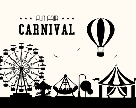 fairground: Carnival design over white background, vector illustration.
