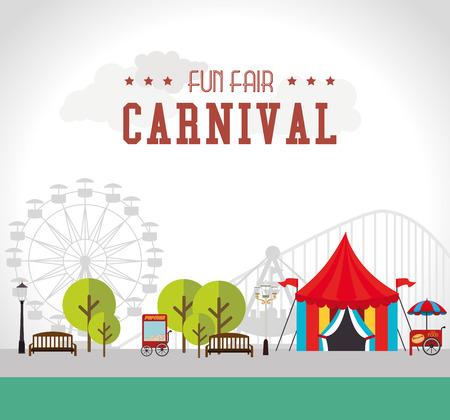 carnival tent: Carnival design over white background, vector illustration.