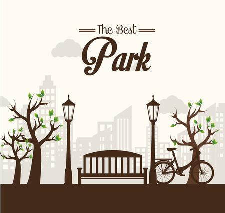 fairground: Park design over white background, vector illustration. Illustration