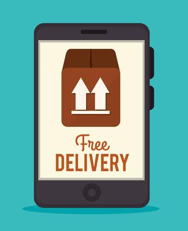 article marketing: Delivery design over blue background, vector illustration.