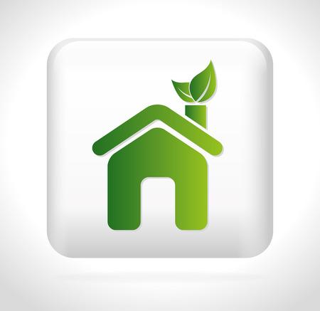 guard house: Ecology design over white background, vector illustration.