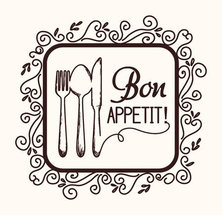 nutritive: Food design over white background, vector illustration. Illustration