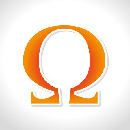 aliment: Omega design over white background, vector illustration.