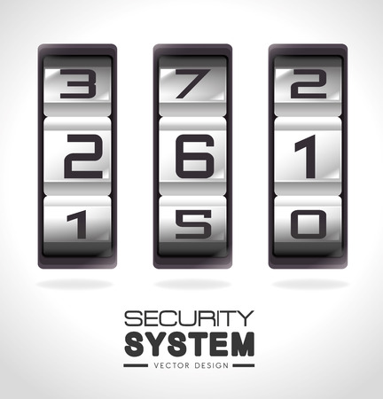 secret code: Security design over white background, vector illustration.