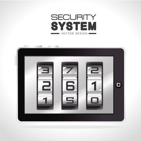secret number: Security design over white background, vector illustration.