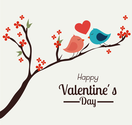 Valentines day over white background, vector illustration.