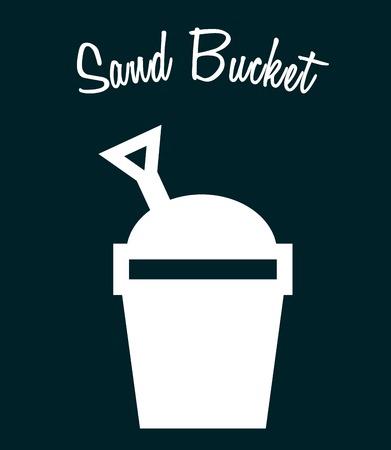 sandpit: sand bucket design, vector illustration eps10 graphic