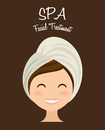 asian business people: spa therapy  design, vector illustration eps10 graphic Illustration