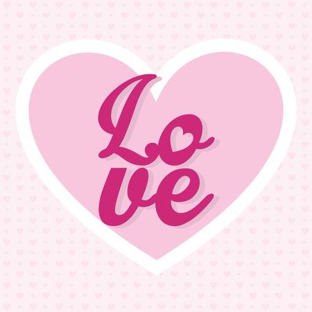 cuore: valentines day design, illustrazione grafica vettoriale eps10