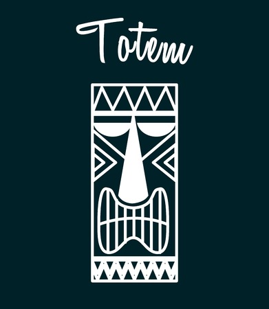 polynesian ethnicity: hawaii totem design, vector illustration eps10 graphic
