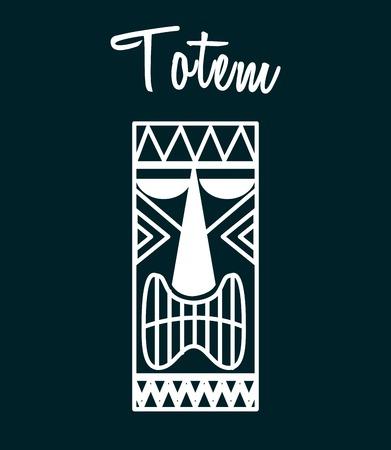 polynesian ethnicity: hawaii totem design, vector illustration eps10 graphic