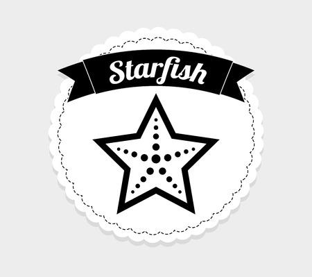 seafish: starfish icon design, vector illustration eps10 graphic