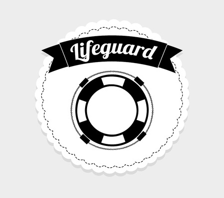 lifeguard: lifeguard icon  design, vector illustration eps10 graphic Illustration