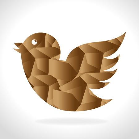 tweet: Bird design over white background, vector illustration.