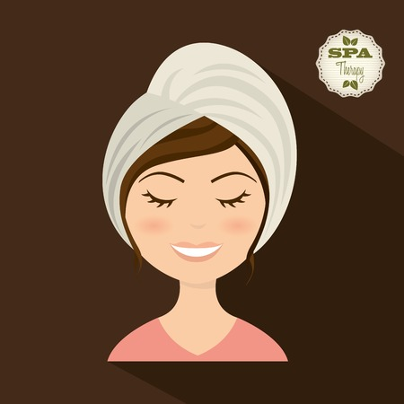 facial spa: spa therapy  design, vector illustration eps10 graphic Illustration