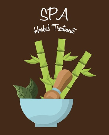 bamboo therapy: spa therapy  design, vector illustration eps10 graphic Illustration