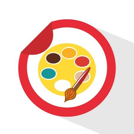 pallete icon design, vector illustration eps10 graphic