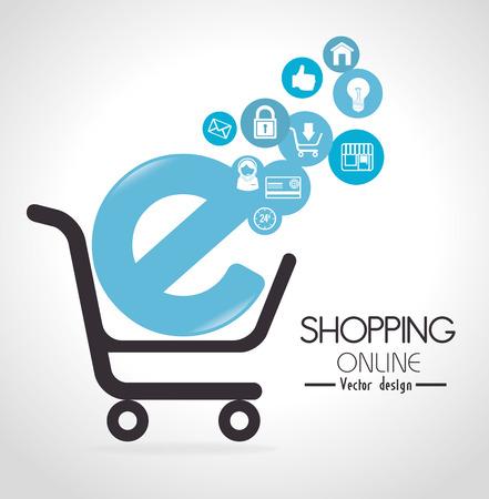 internet shopping: Shopping design over white background, vector illustration.