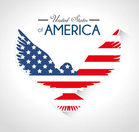 adler silhouette: USA-Design auf wei�em Hintergrund, Vektor-Illustration.