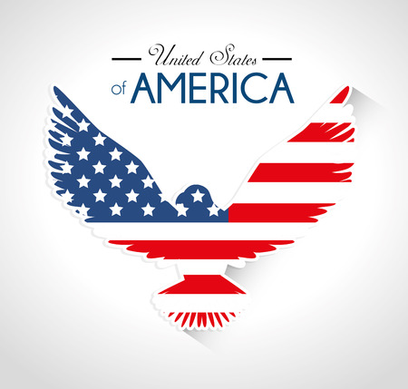 patriotic eagle: USA design over white background, vector illustration.