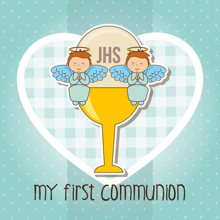 bautizo: mi primera comuni�n de dise�o, ilustraci�n vectorial gr�fico eps10