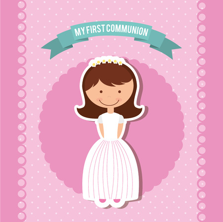 first holy communion: my first communion design, vector illustration eps10 graphic