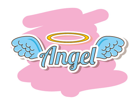 ali angelo: carino disegno angelo, illustrazione grafica vettoriale eps10