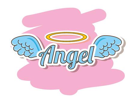 alas de angel: dise�o lindo �ngel, ejemplo gr�fico del vector eps10 Vectores