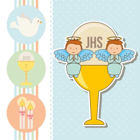 Ma première conception de la communion, illustration graphique eps10 Banque d'images - 36196017