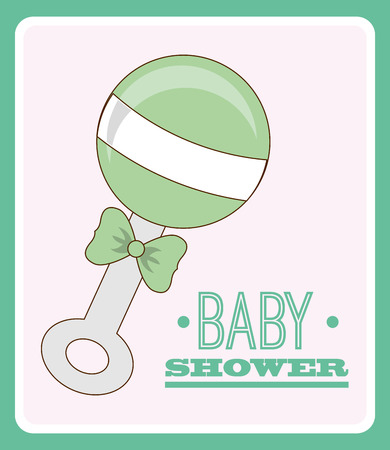 baby shower design, vector illustration eps10 graphic Vector