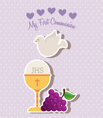 holy communion: my first communion design, vector illustration eps10 graphic