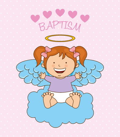 christmas angels: baptism angel design, vector illustration eps10 graphic