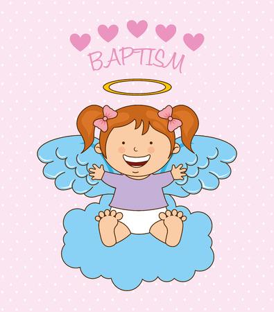 baptism angel design, vector illustration eps10 graphic