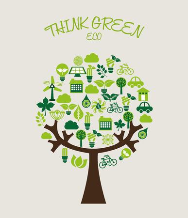 eco friendly  design, vector illustration eps10 graphic Vector
