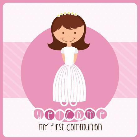 Ma première conception de la communion, illustration graphique eps10 Banque d'images - 36199982