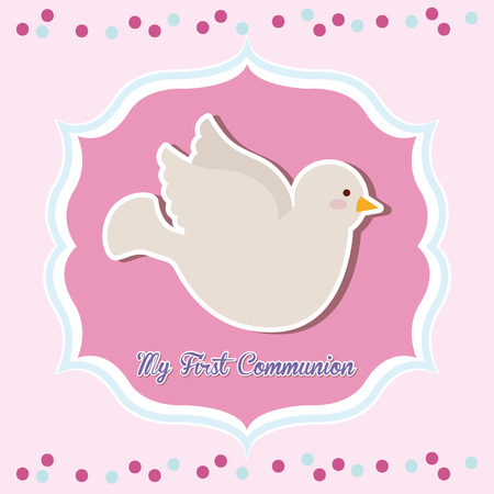 my first communion design, vector illustration eps10 graphic Vector