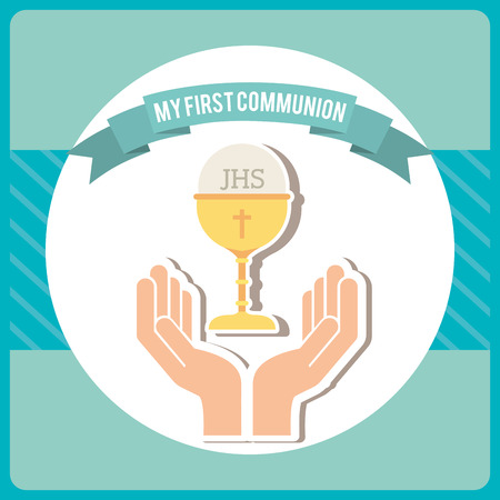 first communion: my first communion design, vector illustration eps10 graphic