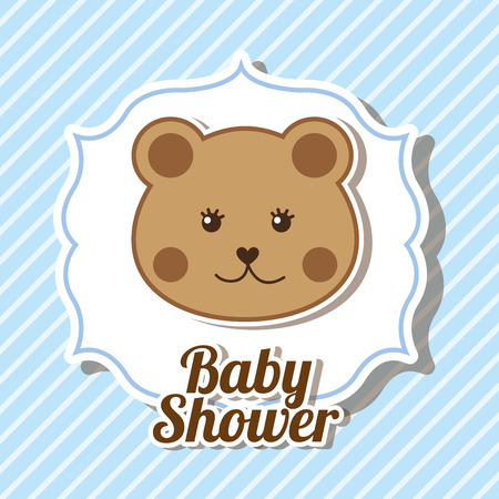 teddy bear cartoon: baby shower design, vector illustration eps10 graphic Illustration
