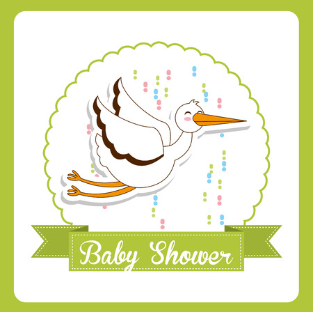 you are welcome: baby shower design, vector illustration eps10 graphic Illustration