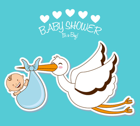 baby shower design, vector illustration eps10 graphic Иллюстрация