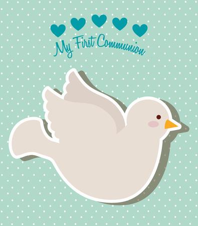 first communion: ma premi�re conception de la communion, illustration graphique eps10