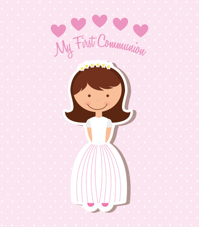 my first communion design, vector illustration eps10 graphic Zdjęcie Seryjne - 36196337